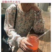 春服 スタイル 女 何でも似合う 韓国風 レトロな花柄 ワンピース 太もも 中長スタイル