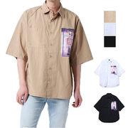フォト付きタイプライター半袖ビッグシャツ/sb-515026