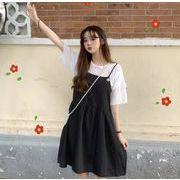 【海外買付】人気ワンピースv-b614b-85911【2020春夏新作】レディース/無地/吊りスカート/可愛い