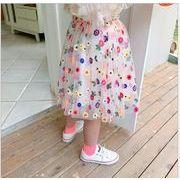 女の子 夏 スカート 刺繍 プリンセス キッズ  韓国子供服 2020新作 SALE ファッション動画あり