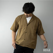 2020新作 オープンカラーシャツ メンズ 半袖 セットアップ対応 ビッグシルエット 開襟 シャツジャケット