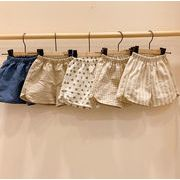 夏 男女兼用 キッズ服 子供服 赤ちゃん着ズボン 水玉 チェック ストライプ ショットパンツ