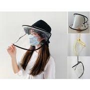 帽子 飛沫防止 キャップ フェイスカバー  UVカット  レディース 子供 シールド取り外し可能