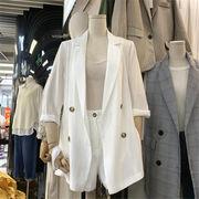 ★韓国大人気 デザイン★2020春 夏 新作 ファッション 気質 スーツ スーツ  スーツ ワイドパンツ 2点セット