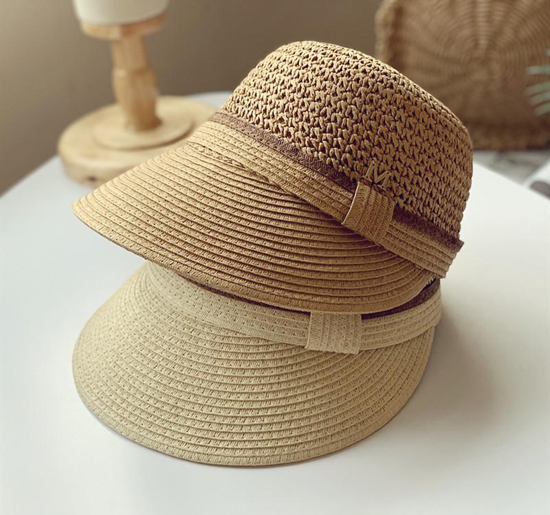 【即納】 韓国風★レディースハット 日焼け止め 帽子  草編み帽子 レディースキャップ