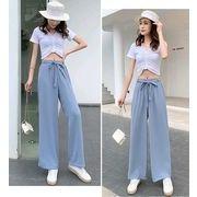 【大きいサイズL-4XL】ファッションパンツ♪ブラック/ブルー2色展開◆