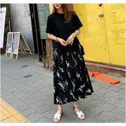 【大きいサイズXL-5XL】ファッションワンピース♪グレー/ブラック2色展開◆
