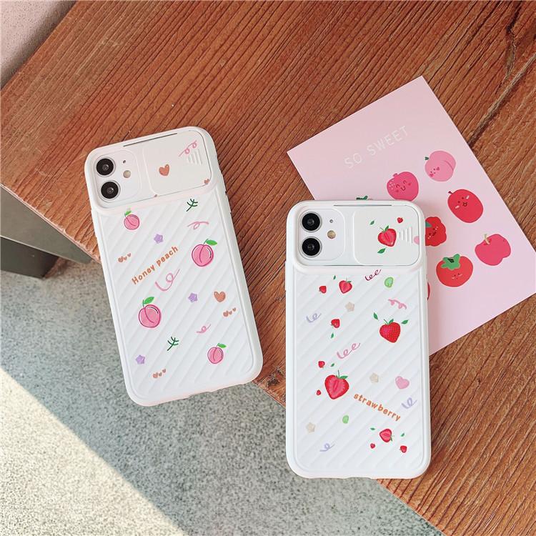 スマホケース 果物柄 iPhoneケース 桃 携帯カバー アイホン11カバー