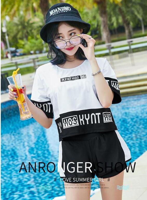 水着 体型カバー タンキニ ビキニ 3点セット水着 レディース 韓国風 セクシー ファッションスイムウェア