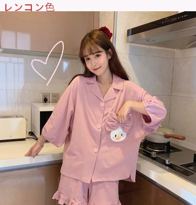 スウィート トラックスーツ セット 女 夏 新しいデザイン 韓国風 かわいい 半袖 パジ