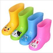 キッズ レインブーツ 子供靴 レインブーツ 子供用 シューズ 長靴 雨靴 4色