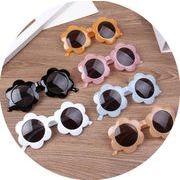 多彩キッズ眼鏡 キッズサングラス 花の形 フレーム ファッション