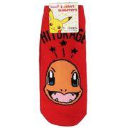 【靴下】ポケットモンスター レディースソックス ヒトカゲとロゴ