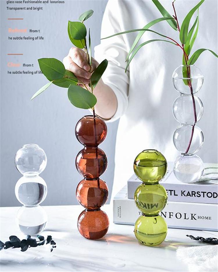 【春作 綺麗一枚】INSスタイル デザインセンス アート 花器 装飾 フラワーアレンジメント  球形ガラス