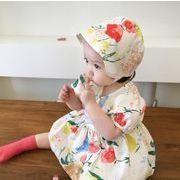 連体衣 ワンピース 赤ちゃん 花柄 パジャマ ベビー さくらんぼ模様冷感 韓国子供服 新作動画あり