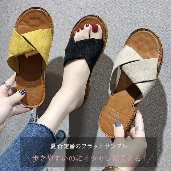 宝来商事 ビーチサンダル サンダル カワイイ レディース 靴 歩きやすい ローヒール 美脚靴