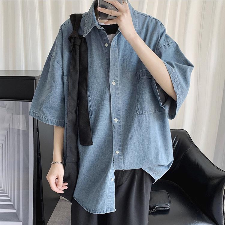 tシャツ デニムジャケット スリムフィット メンズ 無地 オリジナル