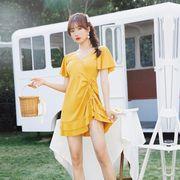 2020夏新品★水着★女の子★スカート式水着★ファッション★無地★レディース★2色★M-2XL★