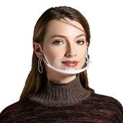 透明マスク 笑顔見えるマスク 曇り止め プラスチック製  調整可能 軽量 業務用 調理用 飲食店  飛沫防止