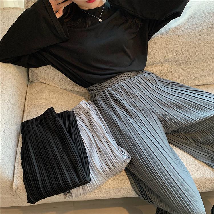 大人の魅力高まる 新品百掛け スリム 高品質 ロングパンツ ワイドパンツ カジュアル ハイウエスト