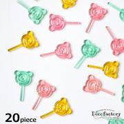 20個 【ミニチュア】クマのペロペロキャンディー カラーミックスアソートセット