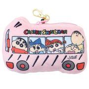 【パスケース】クレヨンしんちゃん リール付きぬいぐるみパスケース 幼稚園バス