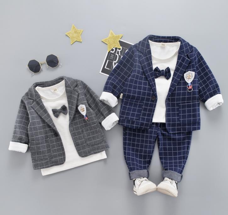 子供服 秋新作 80-120 セットアップ コート+Tシャツ+パンツ 男の子 ファッション