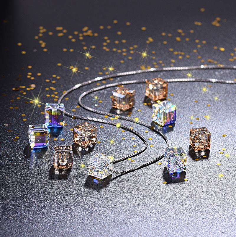 オーストリア水晶 キラキラ 角砂糖型 diy用パーツ 両穴貫通タイプ