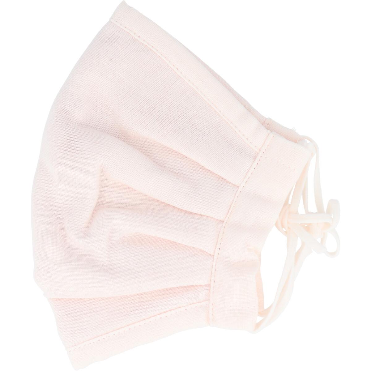 ふわふわマスク 今治産タオル 超敏感肌用 ライトピンク ゆったり大きめサイズ 1枚入