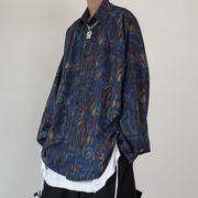 トップス シャツ ブラウス オーバーサイズ 長袖 ゆったり 秋物新作 メンズ