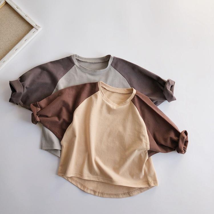 長袖2色無地シャツ 全2色