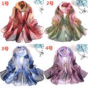シルクスカーフ 日焼け止め スカーフ マフラー ビーチタオル レディースファッション