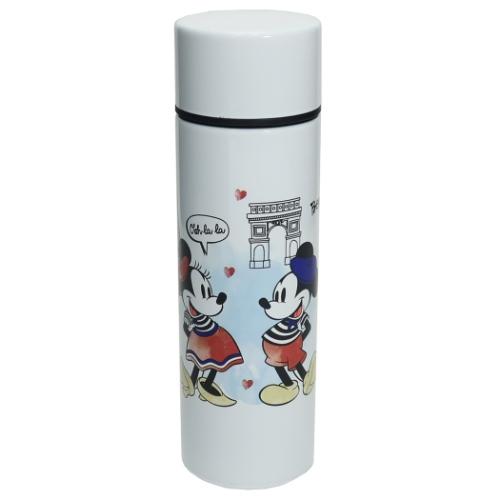 【水筒】ミッキー&ミニー ポケットステンレスボトル ホワイト D-MF56