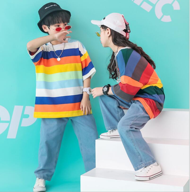送料無料 衣装 ヒップホップ ダンストップス HIPHOP キッズダンス衣装 上下セットアップ