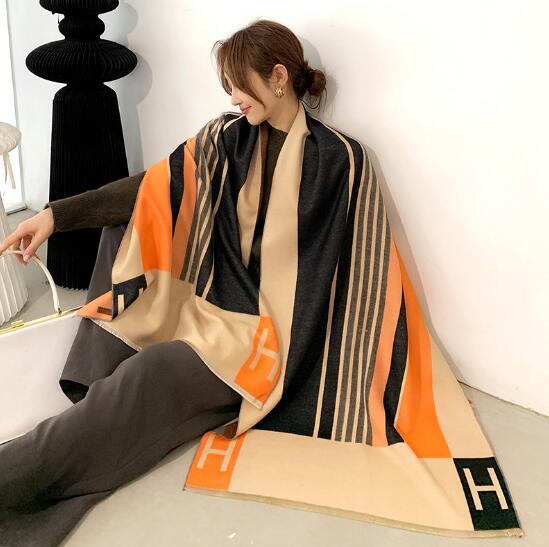 秋冬新作 マフラー デザイン 幾何 タッセル レディースファッション 韓国風
