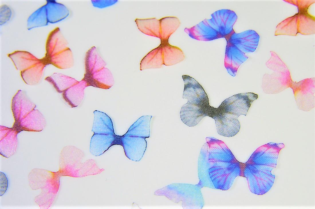 春夏アクセサリー シフォン素材モチーフ 蝶々の羽根 ミニサイズ蝶々 シフォン蝶々福袋