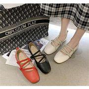 おすすめ商品 韓国ファッション ぺたんこシューズ トレンド シンプル スクエアトゥ シングルシューズ