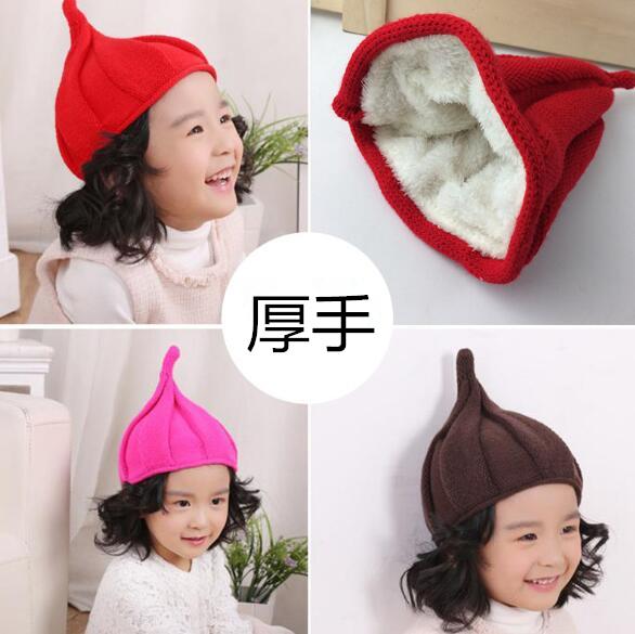【特価・激安】子供ハット 冬 裏起毛 キッズ 帽子 男女兼用 ニット帽 13色