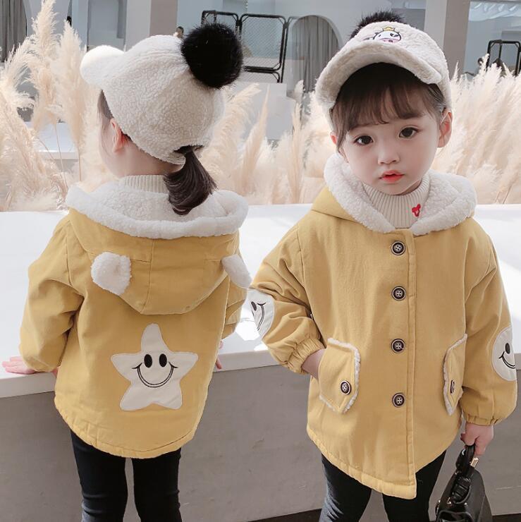 秋冬新作 韓国スタイル 女の子 フード付き アウター ジャンバー 子供服 90-130
