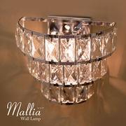 【LED対応 E12/40W水雷型】クリスタルウォールランプMALLIA (2灯)