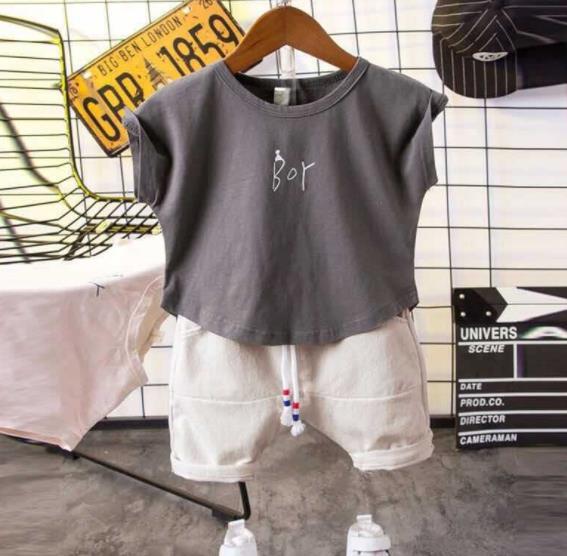 新作子供服 夏 セットアップ Tシャツ+パンツ 男の子 点セット カジュアル系