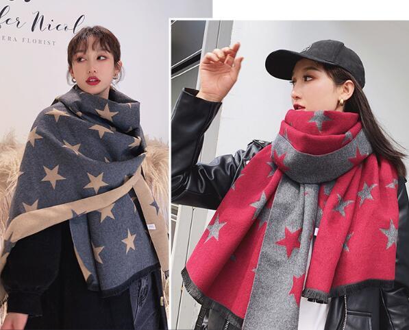 おすすめ 冬 新作 大人 スカーフ  ファッション  マフラー  ストール  星