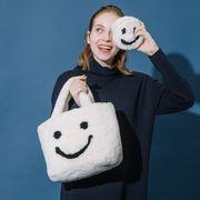 BIG SALE【COOCO】SMILEY/エコファースマイルフェイスポーチ付トートバッグ