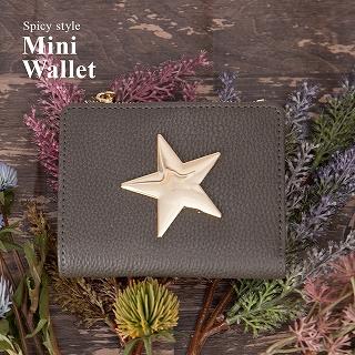 スタープレート 二つ折り財布 フラットミニ財布 [ラベル] / レディース
