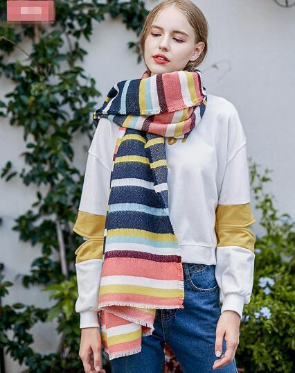 冬 新作 大人 スカーフ ファッション マフラー ストール カラフル