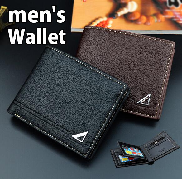 2020新作 men's メンズ 短財布 ウォレット 二つ折り PU 小銭入れ 大容量 カード収納 名刺入れ