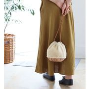 【KAGOBAG】【CARMELINA(カルメリーナ)】柳ボア 巾着バッグ 3色