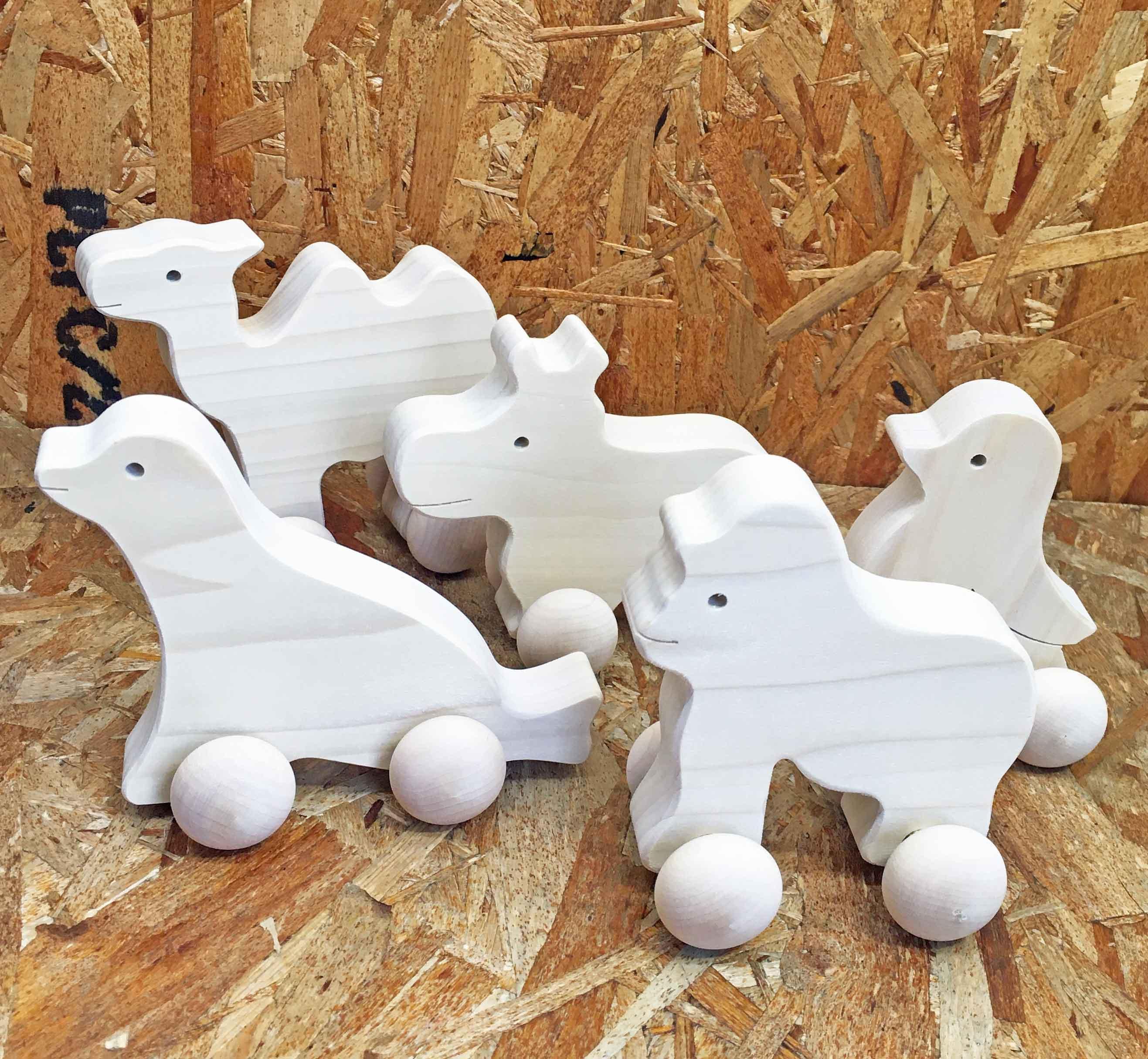 《日本製・在庫限り!!》 WOODEN TOY 森の動物園・木のおもちゃ 出産祝い 赤ちゃん ベビーギフト