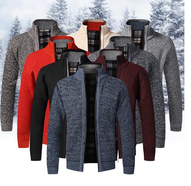 秋冬新作 メンズ服 カーディガン ニットカーディガン メンズ ジップアップ はおり セーター トップス