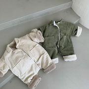 韓国子供服ベビーコットン暖かい厚手ベビーボディスーツ男女2020冬66-90 人気 新品